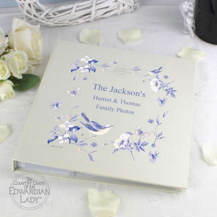 Personalised Country Diary Blue Blossom Photo Album | Personalised Gifts - The Present Season